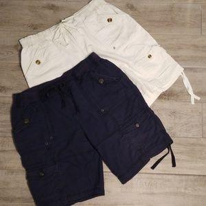❣Linen blend shorts BUNDLE! Size 14